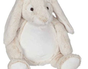 personalized baby gift, Bunny, personalized plush, stuffed plush, Bella Bunny, kids personalized stuffed keepsake, Embroider Buddy