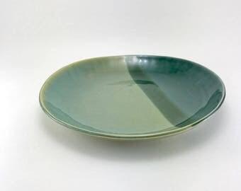 Ceramic Serving Bowl-Serving Dish-Handmade Tableware-Pottery Bowl-Teal Pottery