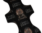 Super Hemp Core- Iron Throne Reusable Cloth Goddess XL/Postpartum Pad- WindPro Fleece- 16.5 Inches