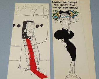 2 Vintage Unused Hallmark Contemporary Cards
