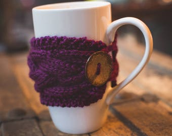 Coffee Mug Cozy, Coffee Mug Sleeve, Tea Cozy, Knit Coffee Cozy, Knit Coffee Sleeve, Knit Cup Cozy, Knit Coffee Cup Cozy, Coffee Cup Sleeve