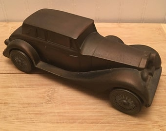 1937 ROLLS ROYCE Metal Giveaway Bank by Banthrico, Chicago, Illinois - Banking Promotional Item