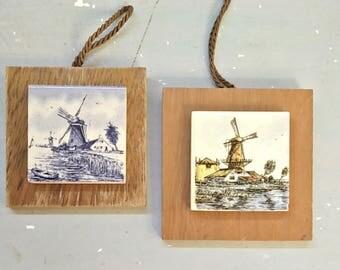 Wall hangings, Windmills, Windmill wall art, original Dutch art, Made in Holland, Windmill Wall hangings, Dutch windmill, Dutch Delft