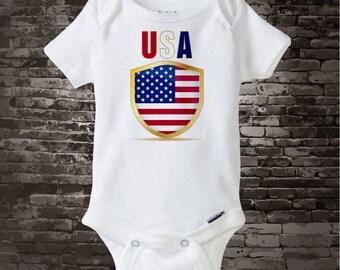 4th July Onesie | 4th of July Tee Shirt or Onesie | USA July 4th Onesie | 4th July Shirt or Onesie | 1st 4th July 06202017g