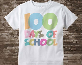 100 days of school shirt, 100th day of school shirt, 100th day shirt, 100 days of school cotton t-shirt 01042018a