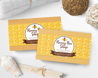 Soap Labels - Honey Soap Labels - Soap Packaging - Soap Wrapper - Cosmetic Labels -  Printable Label Design - Product Labels - SW-5
