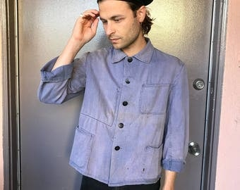 Faded French Work Shirt / Jacket - S