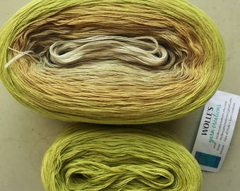 KAL Kit ~ PISTACHIO -- Color Changing Cotton yarn   Fingering Weight -- 960 yards