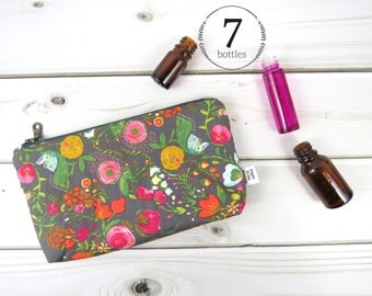 Essential Oil Bag - Budquette Nightfall - cosmetic bag zipper pouch essential oil bag
