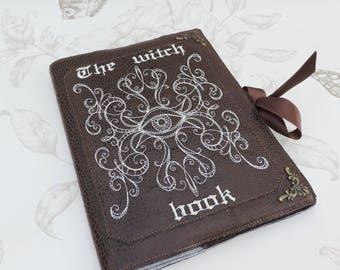 Brown witch book - Journal- notebook - diary- travel- book potion- book of spells- witchcraft -occult-gothic steampunk