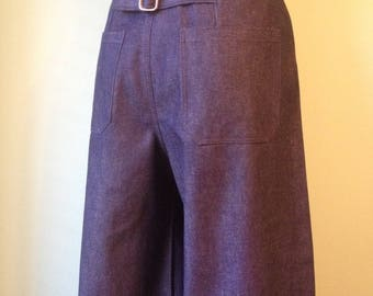 1930s 1940s back  belted wide leg   work   pants    custom made for your size
