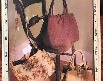 An Everyday Bag - Favorite Things Pattern Designs # 055 - Shoulder Purse, Tote, Handbag w/ Lots of Pockets - Uncut