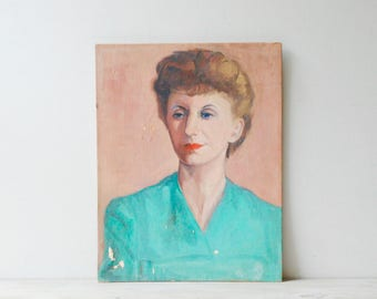 Vintage Portrait Painting of a Woman