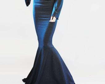 Long High Waist Mermaid Skirt