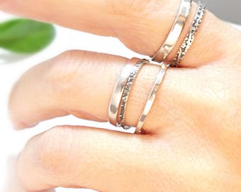 skinny ring, stacking ring, stackable ring, sterling silver ring, skinny band, fun summer ring, handmade ring, womens ring