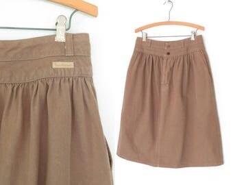 80s Jean Skirt * Vintage 80s Skirt * 1980s Denim Skirt * Large