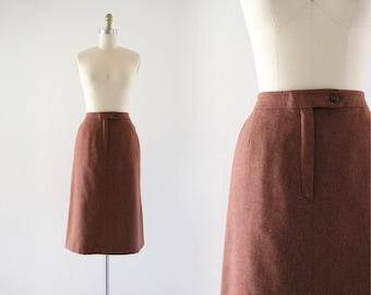 1970's wool midi skirt