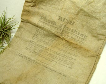 Vintage Mailing Sack for Photo Finishing via US Postal Service Film Developing