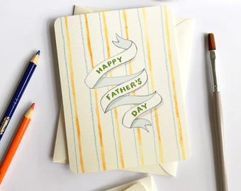 Happy Father's Day Card - Fathers Day Cards - from kids - Father Card - 1st Fathers Day - Card for Dad
