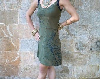 Summer Dress | FREE SHIPPING | Woman Sexy dress | Urban & Festival Fashion |  Handprinted | Handmade | Organic Cotton | Ethical Fashion |