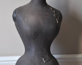 Antique French Mannequin - Napoleon III - Wasp Waisted Dress Form