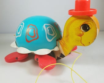 1962 Fisher Price Toy Pull Turtle #773