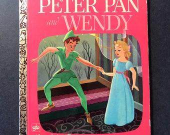 Little Golden Book Walt Disney Productions - Peter Pan and Wendy 1970's