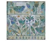 Garden Songs, Painting on Canvas, 12x12 Original Art , Floral Fantasy,home decor