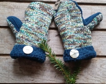 Upcycled sweater mittens small