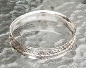 Sterling Silver Fidget Spinner Bracelet Anticlastic Handmade
