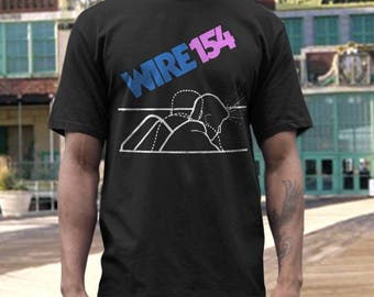 Wire  T shirt screen print short sleeve