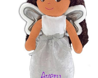 "PERSONALIZED Soft Cloth Dolly ""Fairy Princess Elana"" Baby Doll 14"" Tall"