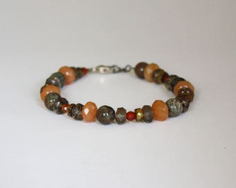 Handmade Stone and Bead Bracelet