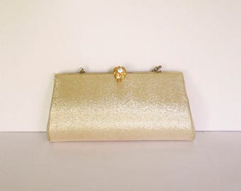Gold Lame Evening Bag