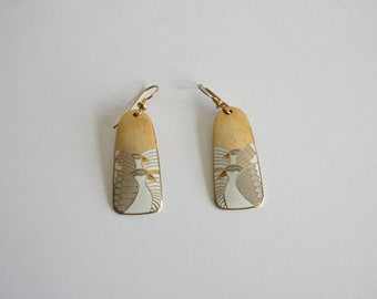 Laurel Burch Moondoves Drop Earrings