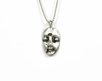 Unusual Jewelry Gift For Women, Unique Jewelry Gift For Girlfriend, Face Jewelry, Mental Jewelry, Robin Wade Jewelry, Sterling Face, 2578