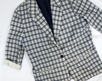 Fundamental Things sz 16 Women's Plus Size Vintage Plaid Blazer 80's 90's style Halloween Costume