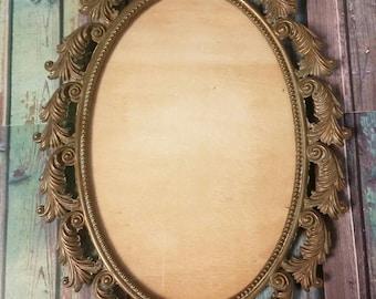 Ornate Antiqued Brass Frame