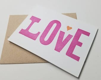 Love - Letterpress Card