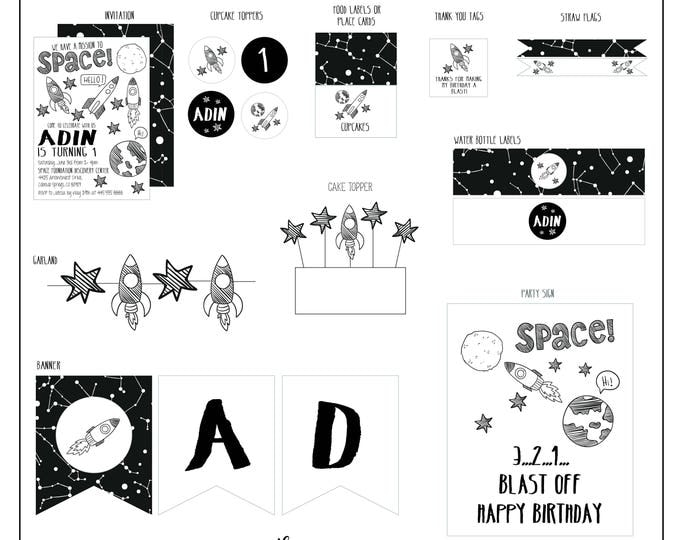 Featured listing image: Space Birthday Collection