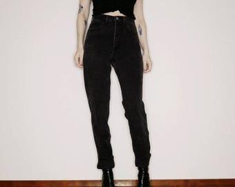 90s guess black high rise denim size 31 28 inch waist