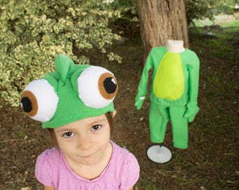 Tangled Pascal inspired fleece hat - Chameleon hat - Tangled Pascal costume hat - infant child adult