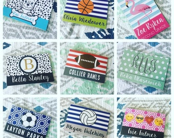 LOCAL PICK-UP  Bag Tags/Back to School/Luggage Tag