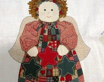 HEARTLAND ANGEL Stuffed Folk Angel Cut and Sew Fabric Panel by ViP Cranston Print Works Made in USA