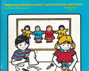 Vintage Alphabet Paper Dolls Pre-School Capital and Lower Case Letters Activity Book, 1988