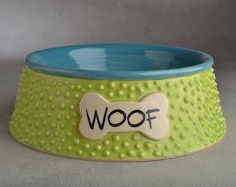 Dog Bowl Ready To Ship Dottie Dog Bowl by Symmetrical Pottery