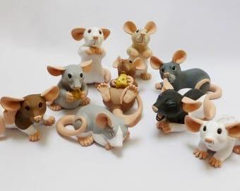 MADE TO ORDER  Mini Rat Fancy Rat Pet Animal ornament sculpture