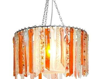Paprika Titania – Large Single Chandelier - Glass Chandelier - Glass Lighting - Pendant Light - Light Fixture - Bohemian Decor