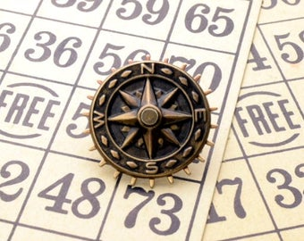 COMPASS Steampunk Tie Tack Steampunk Tie Pin Compass Tie Tack Steampunk Hat Pin Pirate Nautical Steampunk Jewelry by Victorian Curiosities