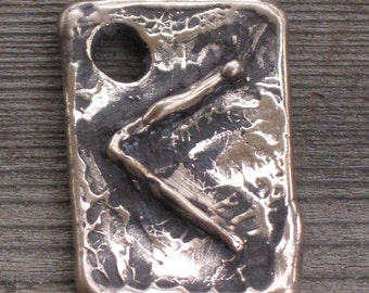 Primitive Bronze Rune Pendant of  Vision .....KENAZ